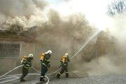S ohňom bojovali hasiči hodiny.