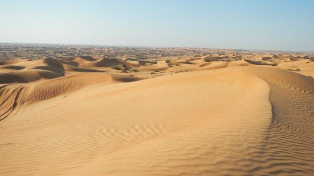 Púštne duny v Rás al-Chajmá.