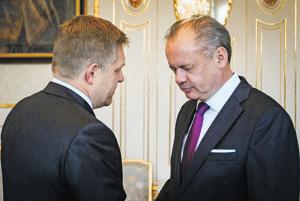 Robert Fico a Andrej Kiska.