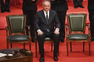 Andrej Kiska počas inaugurácie Zuzany Čaputovej.