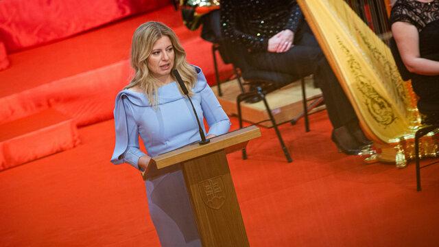 Zuzana Čaputová vystúpila s prvým prezidentským prejavom.