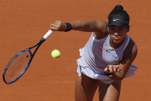 Naomi Osaková počas Roland Garros 2019.