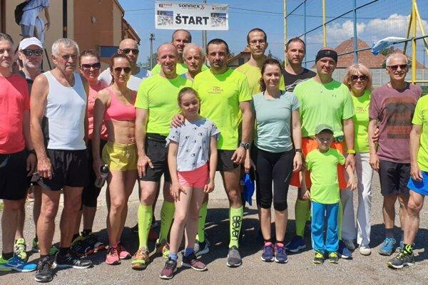 Topoľčianski bežci v Hrušovanoch.