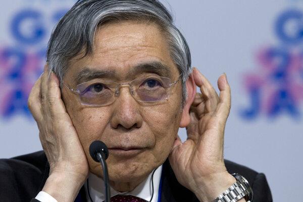 Guvernér Bank of Japan Haruhiko Kuroda.