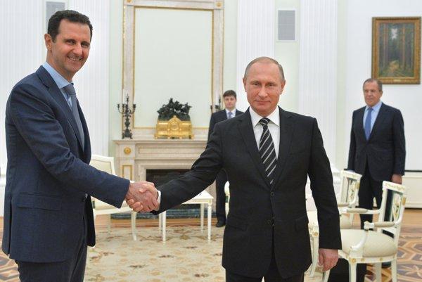 Bašar Asad a Vladimir Putin.