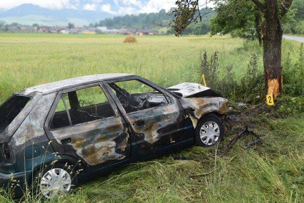 Vyhorené auto