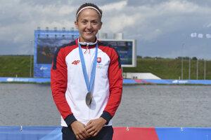 Slovenská reprezentantka v rýchlostnej kanoistike Mariana Petrušová získala bronz v K1 na 5000 m na II. európskych hrách v Minsku 27. júna 2019.
