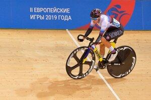 Slovenská reprezentantka v dráhovej cyklistike Tereza Medveďová.