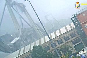 Pád Morandiho diaľničného mosta 14. augusta 2018, pri ktorom zahynulo 43 ľudí a desiatky ľudí sa zranilo.