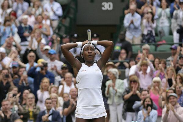 Cori Gauffová po víťazstve nad Venus Williamsovou.
