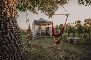 Dobrá hudba aj zábava pre deti priamo vo vinohrade.