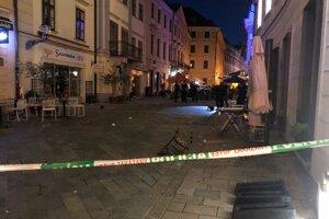 Na snímke uzavretá ulica v Starom Meste v Bratislave.
