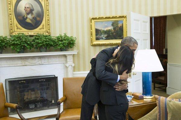 Barack Obama a Nina Phamová.