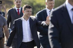 Volodymyr Zelenskyj počas predvolebnej kampane v Záporoží.