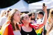 Účastníci sprievodu 9. ročníka festivalu Dúhový Pride v Bratislave 20. júla 2019.