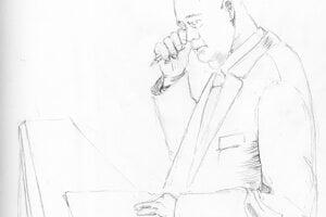 Ako vznikali kresby. Začiatok práce na ilustrácii sústredeného  Pavla Ruska.
