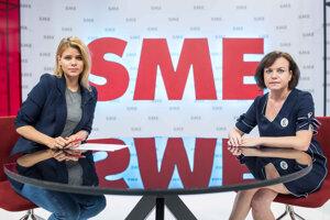 Zuzana Kovačič Hanzelová a riaditeľka Nadácie zastavme korupciu Zuzana Petková v relácii Rozhovory ZKH.