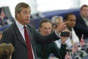 Líder britskej Strany brexitu Nigel Farage.