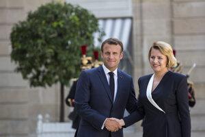 Macron privítal prezidentku Čaputovú.