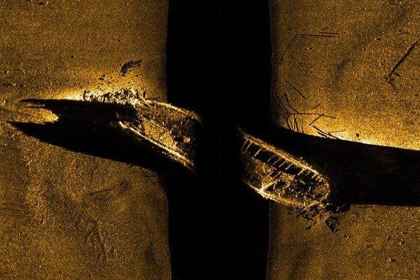 Sonar ukazuje vrak lode na morskom dne pri severnom cípe Kanady. Malo by ísť o kanadskú prieskumnú loď.