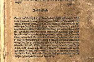 Lactifer - Aby Cžechowe Y tudiež Slowaczy Latinstee vcžitele, k wzďelanij a ku vpewnienij wijery, cžisti mohli...., Plzeň 1511