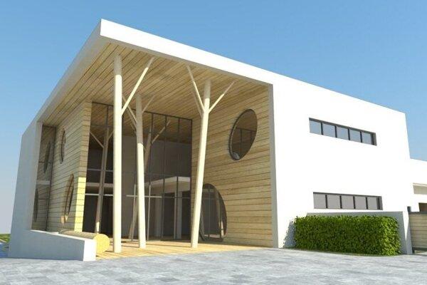 Vizualizácia budúcej lesnej školy v Leviciach.