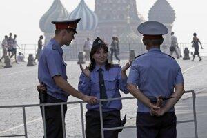 Príslušníci ruskej polície.