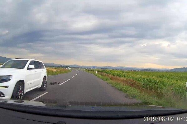 Tento pohľad doslova vyrazil dych vodičovi, ktorý išiel oproti. Prípad už rieši polícia.