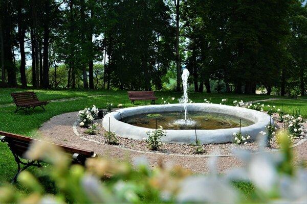 Obnovená fontána.