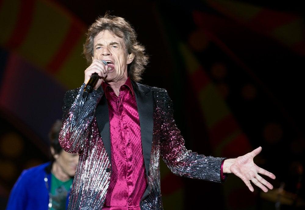 Spevák Rolling Stone Mick Jagger.