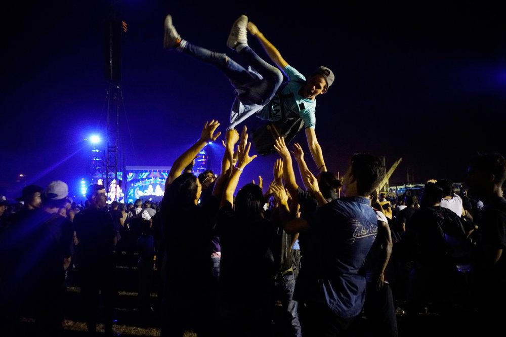 Návštevníci si koncert užívali.