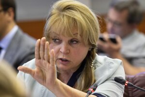 Šéfka ruskej Ústrednej volebnej komisie Ella Pamfilovová.