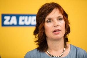 Členka politickej strany Za ľudí a poslankyňa NR SR Veronika Remišová.