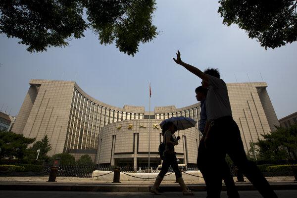 Budova čínskej centrálnej banky v Pekingu.