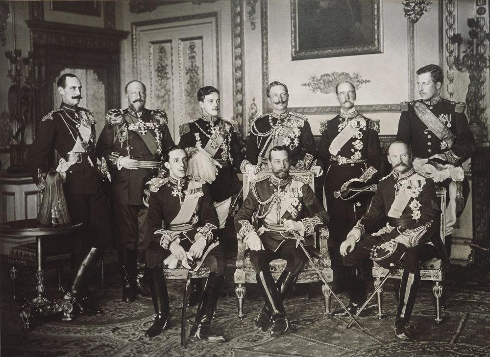 Windsorskí panovníci v roku 1910.