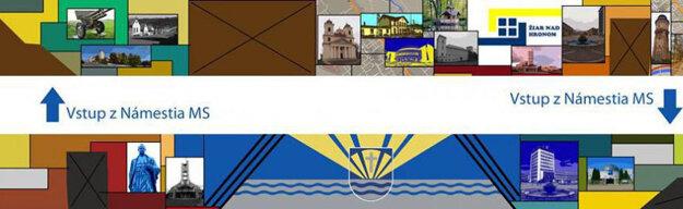 Patrik do návrhu zakomponoval dominanty mesta aj erb.