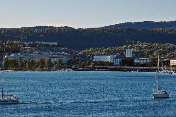 Baerum pri Oslofjorde v Nórsku.