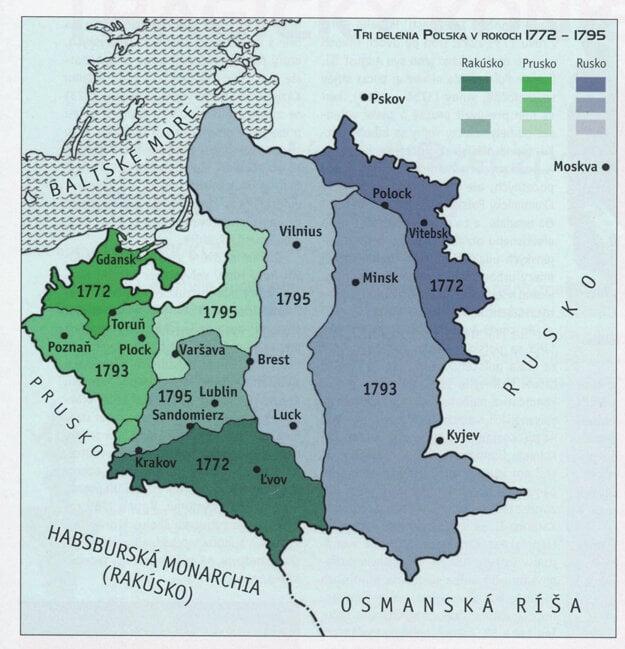 Mapa Poľska