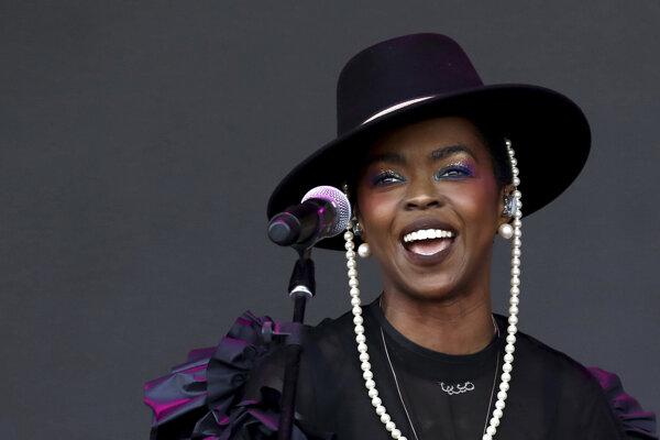 Lauryn Hill počas britského hudobného festivalu Glastonbury.