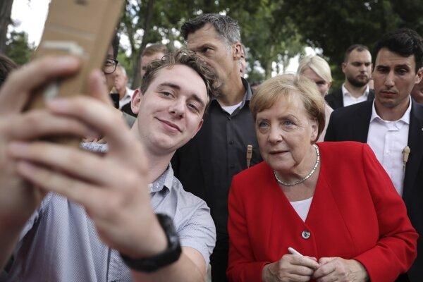 Nemecká kancelára Angela Merkelová na vládnom dni otvorených dverí v Nenmecku.