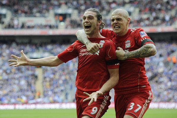 Andy Carroll (vľavo) a Martin Škrtel ešte v drese FC Liverpool.