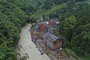 Následky tajfúnu Lekima v západnej provincie S´-čchuan.