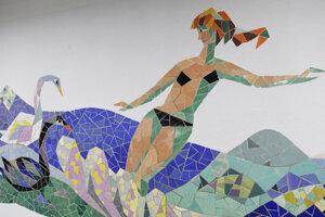 Zreštaurovaná mozaika v Kunsthalle.