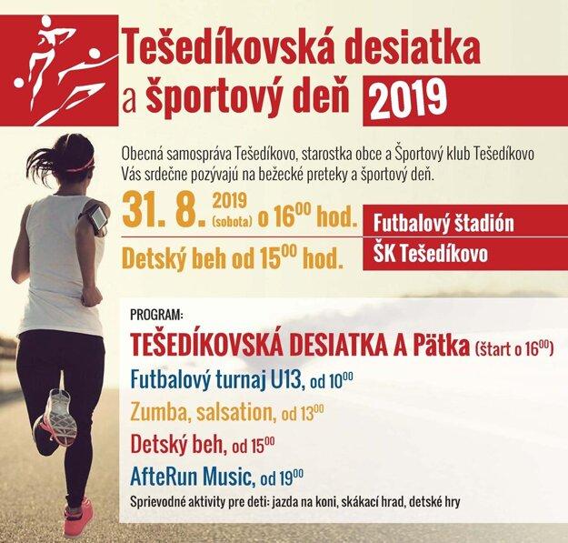 Na konci prázdnin sa bežci zídu v Tešedíkove.