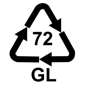 Recyklačná značka pre hnedé sklo