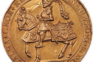 Najvzácnejším exponátom je zlatá medaila s Ferdinandom I. na koni.