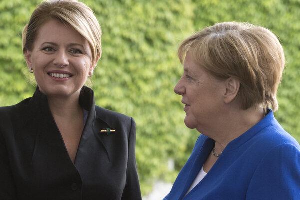 Prezidentka Čaputová a kancelérka Merkelová.