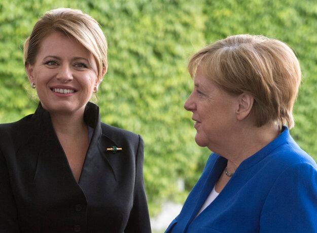 Merkelová a Čaputová.