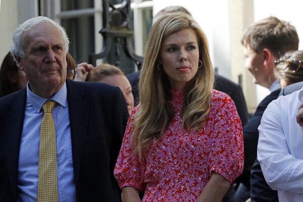 Priateľke britského premiéra Borisa Johnsona Carrie Symondsová.