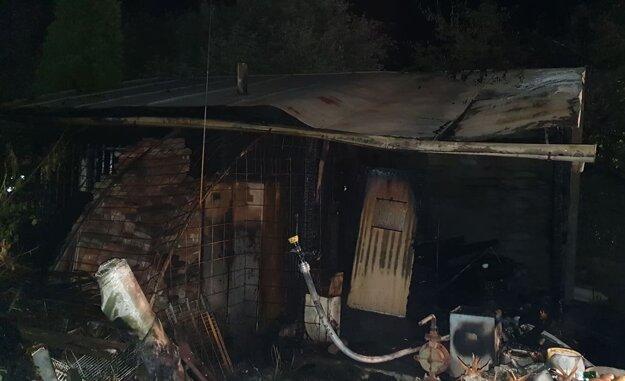 Zhorená chata.